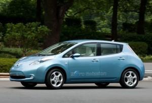 Mi fydd y car trydan newydd, y Nissan Leaf, yn cael ei ddadorchuddio'n swyddogol yng Nghilgwyn ar Ebrill 7ed 2013