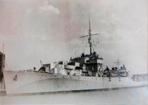 Suddwyd yr HMS Mourne ar Fehefin 15ed 1944.